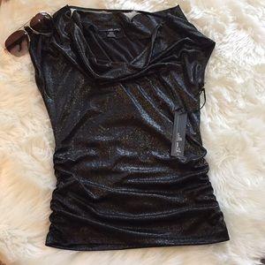 Black sparkling blouse